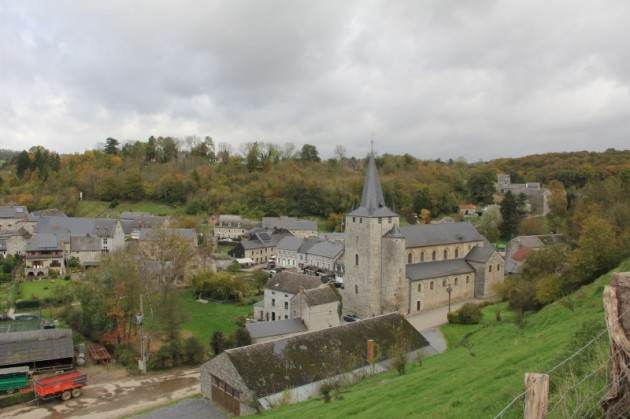 The small, but gorgeous town of Celles